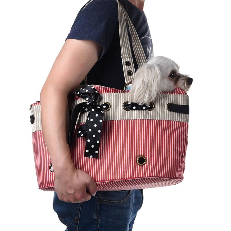 Pet Carrier Bag Vintage Picnic | Small Dog Carry
