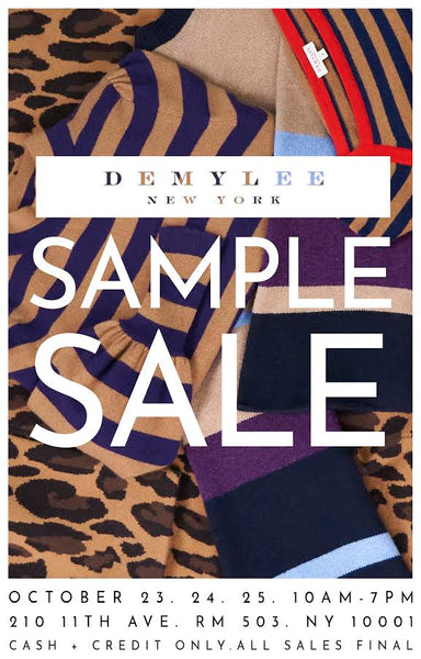 NYC - Join us at our Sample Sale!