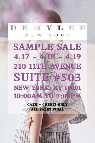 Join us at our Sample Sale!