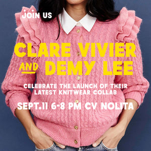 Clare V. + DEMYLEE - Sweater Launch in NYC