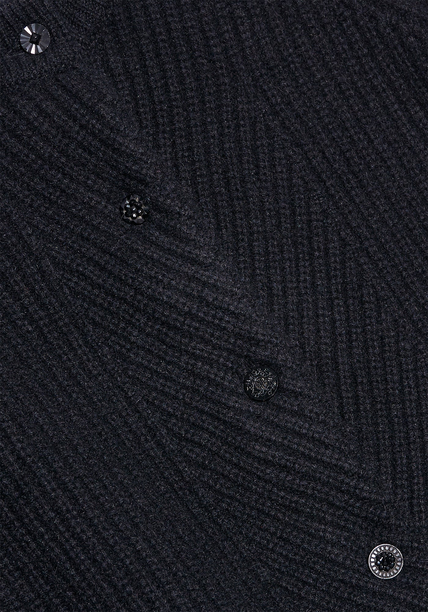 Black Cashmere Cardigan - S - Black Glass 02