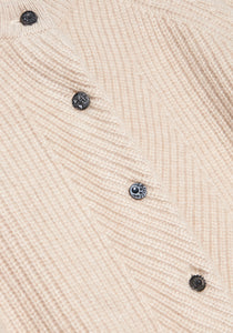 Lt Beige Cashmere Cardigan - M - Black Glass