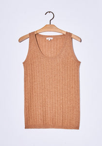 Cashmere Sleeveless Top - Chestnut