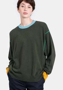 Hellen Sweater - Army Green Combo