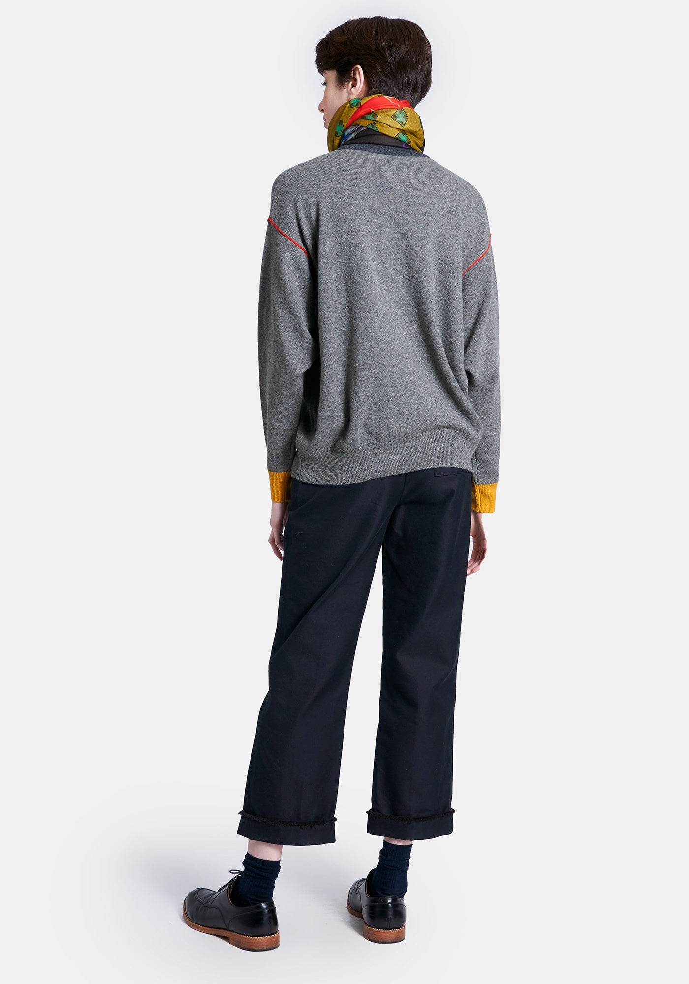 Hellen Sweater - Med Htr Grey Combo