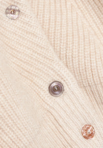 Lt Beige Cashmere Cardigan - S - Natural Shell