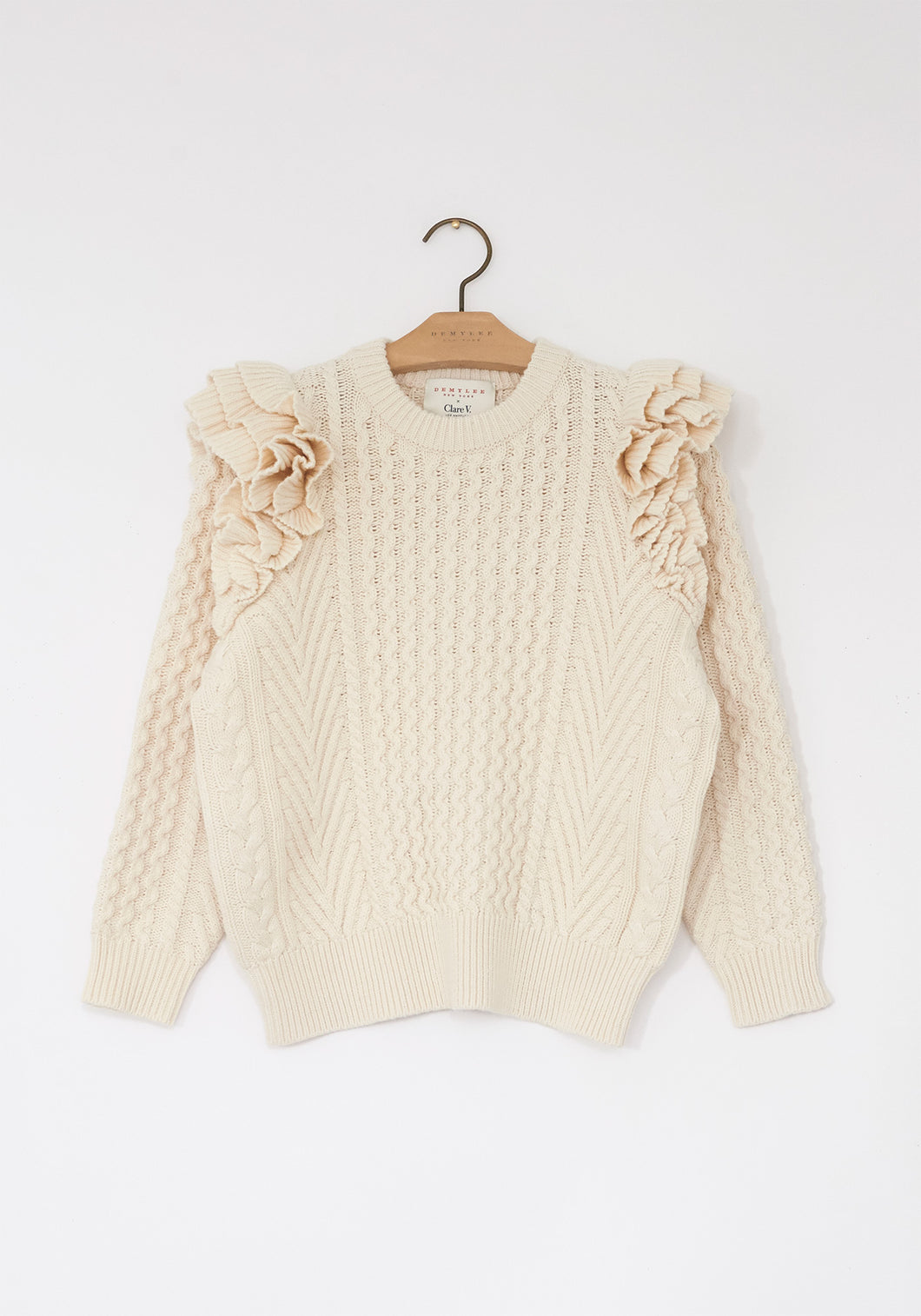 Nora Sweater - Natural - CLARE V. x DEMYLEE