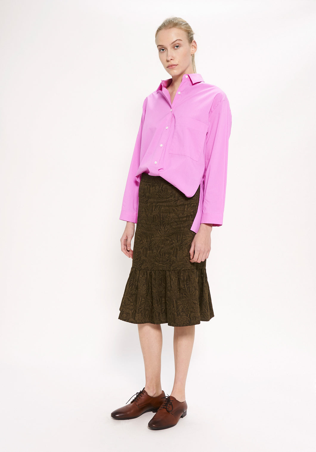 Raquel Fuschia Stripe Shirt
