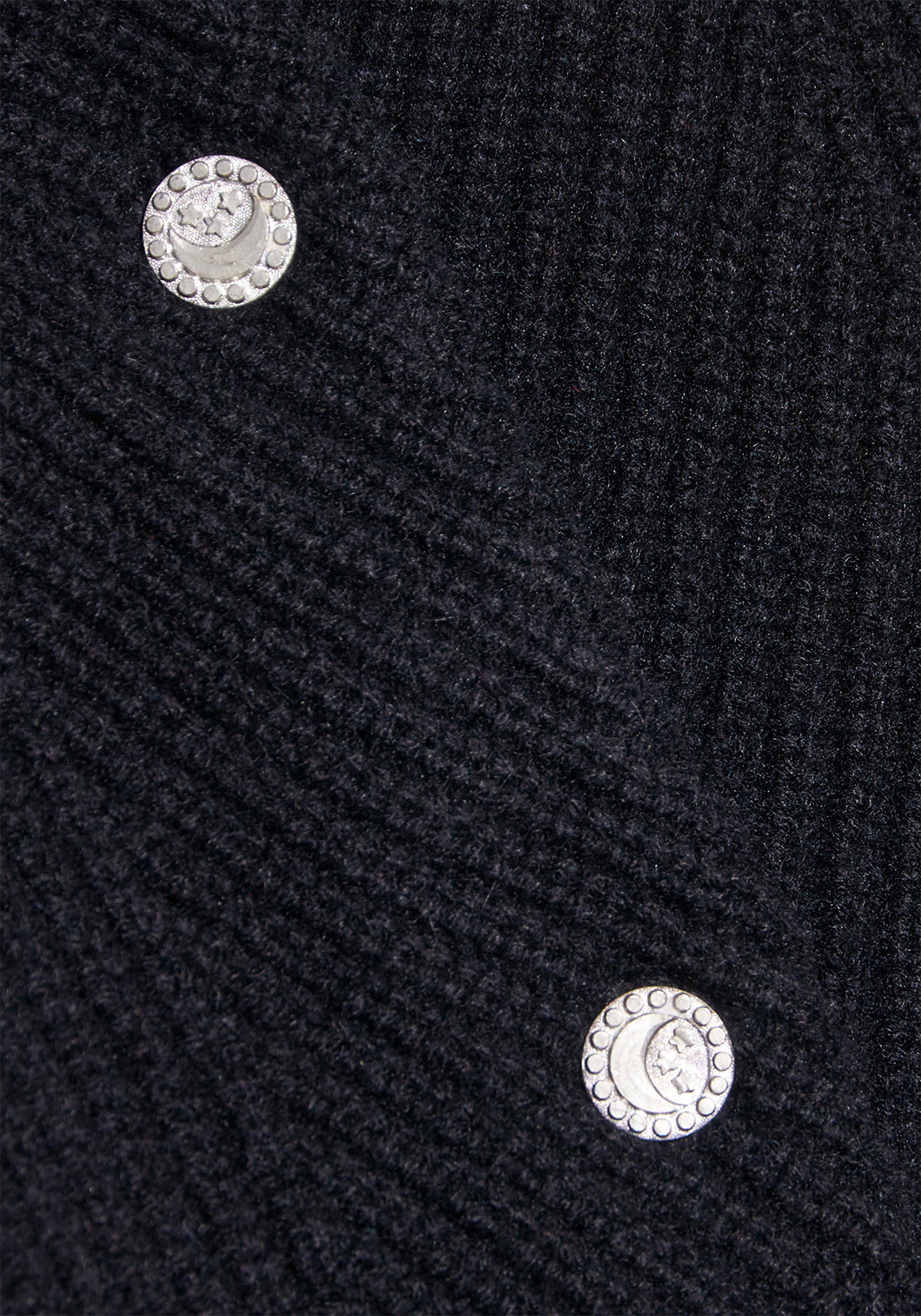 Black Cashmere Cardigan - XS - Stars and Moon