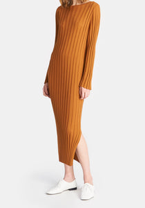 Audrey Dress - Yellow Ochre
