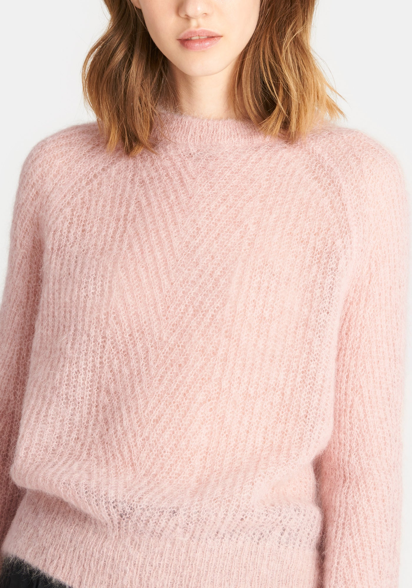 Chelsea Mohair Sweater - Baby Pink
