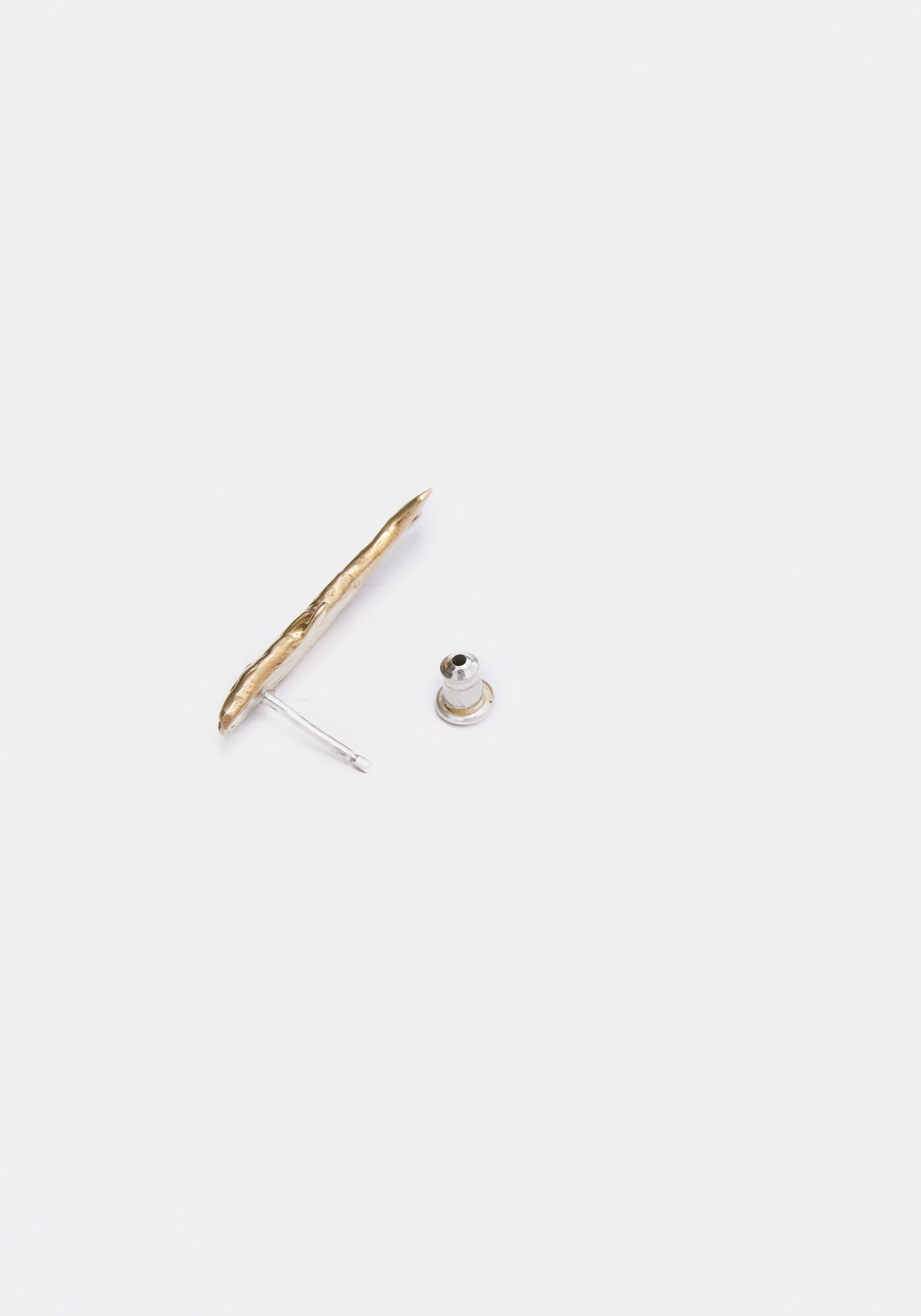 Sardine Stud Single Earring - Brass