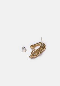 Shrimp Stud Single Earring - Brass