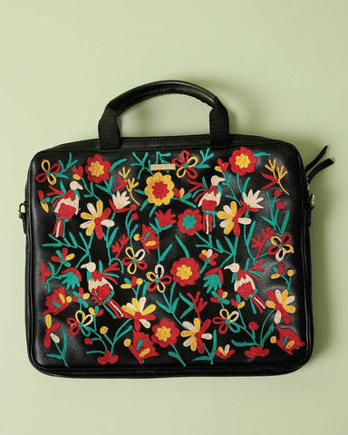Jungle Embroidered Laptop Bag