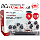 8 CHANNEL, 8 CAMERAS, 1080p, 2MP, 2TB HDD, HIKVISION TURBO HD 4.0 CCTV SECURITY SURVEILLANCE PKG-3 - checkwayelectrotech.com