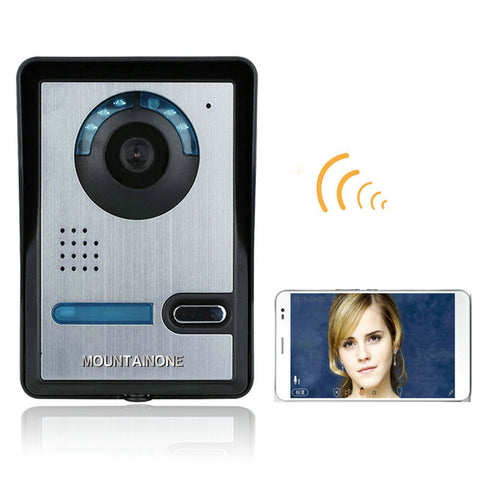 MOUNTAINONE Wireless WIFI Video Door Phone Doorbel Intercom System  Night Vision Waterproof Camera with Rain Cover  HD 720P - checkwayelectrotech.com