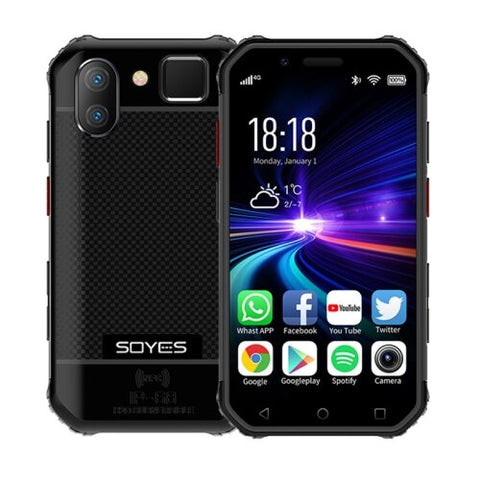SOYES S10 Rugged NFC 4G Phone with PTT Walkie Talkie (IP68 Waterproof, Fingerprint + Face Unlock, Red)