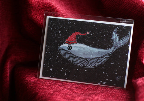 Whale Of a Christmas Greeting Card Pack of 5