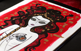 Queen Black Heart - Gorgon Naive Art Painting