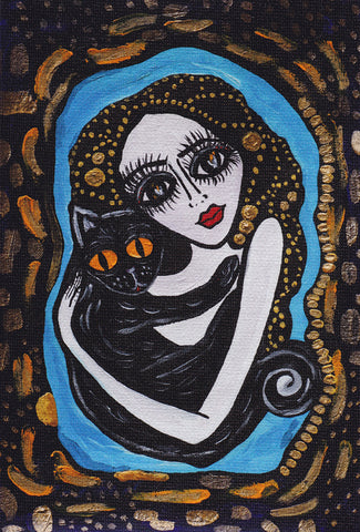Aysha's Familiar Print by Silvena Toncheva Naive Art