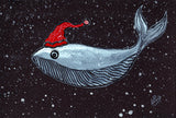 Whale Of a Christmas Greeting Card Pack of 3