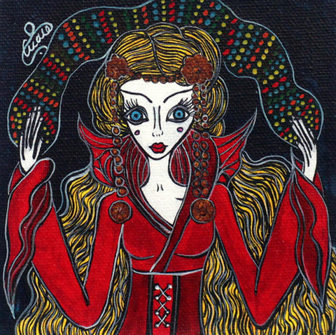 Queen Print by Silvena Toncheva Naive Art