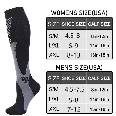 Size Chart for compression socks