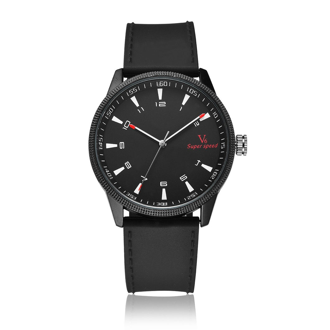 Waterproof Quartz Watch For Men Timeless Matter Black faced black belt