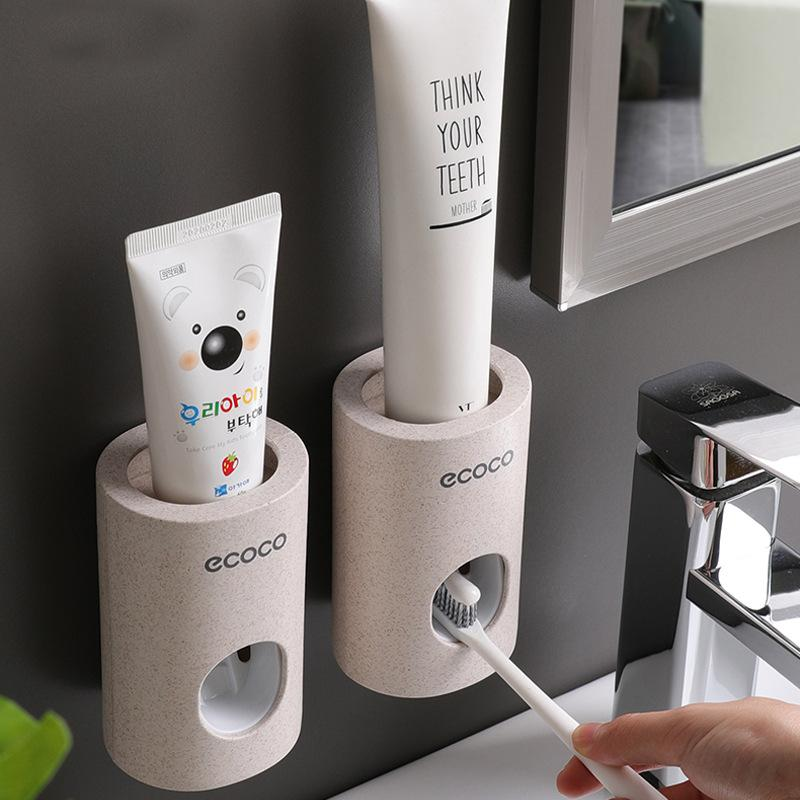 Toothpaste Dispenser & Squeezer - Best Automatic Toothpaste Dispenser & Squeezer Toothpaste Dispenser Timeless Matter Wheat