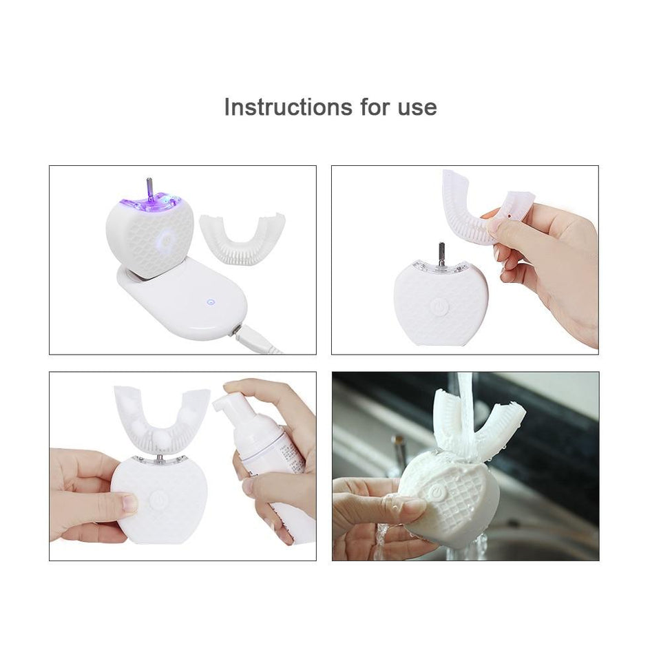 V-White - Hands Free Automatic Toothbrush Automatic Toothbrush Timeless Matter