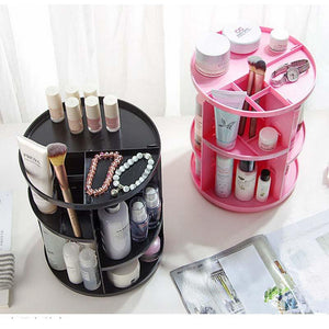 360-Degree Rotating Makeup Organizer | Cosmetic Organizer