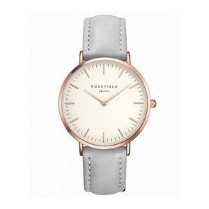 Rosefield Ultra Thin Quartz Watch For Women Timeless Matter Rose gold shell with white surface