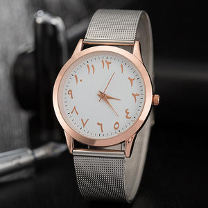 Arabian Quartz Unisex Watch Timeless Matter Pink