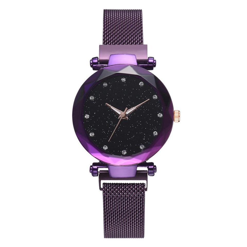 Galaxy - Quartz Watch For Women Timeless Matter purple