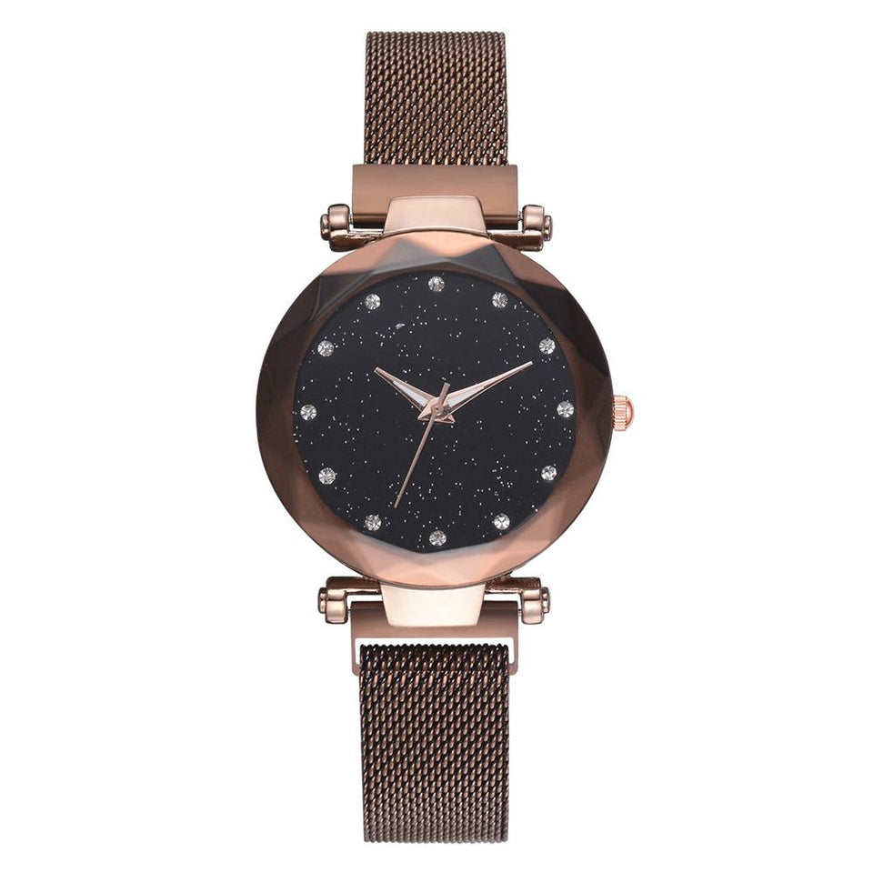Galaxy - Quartz Watch For Women Timeless Matter Brown