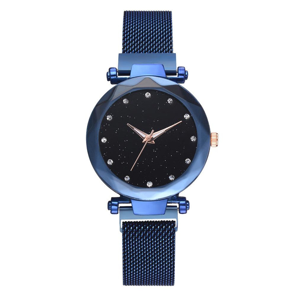 Galaxy - Quartz Watch For Women Timeless Matter blue