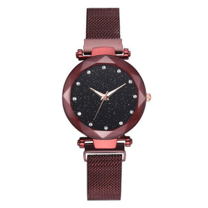 Galaxy - Quartz Watch For Women Timeless Matter red