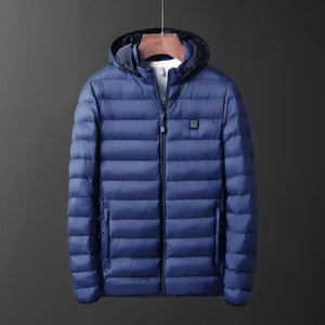 Heated Jacket For Men & Women Heated Jacket Timeless Matter Blue XXL