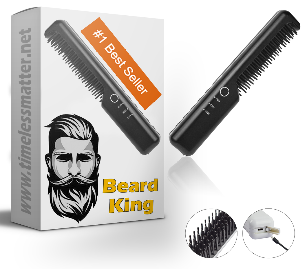 BeardKing - Cordless Beard Straightener Heated Brush
