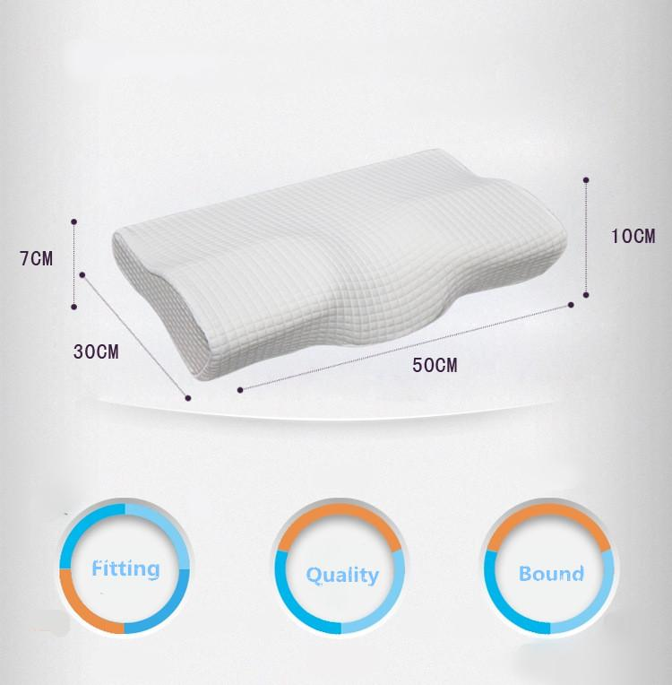 Memory Foam Pillow For Snore & Neck Pain Relief Timeless Matter Emerald white 50-30-10-7 cm