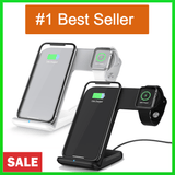 2 in 1 Wireless Charger Pad for iPhone 8 & Above - iWatch & Android