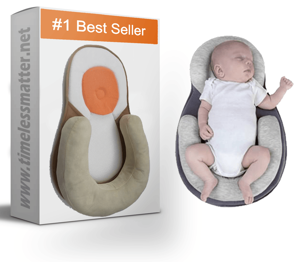 Baby Flat Head Pillow - Baby Anti Roll Pillow (0-12 month Old) Baby Pillow Timeless Matter Beige