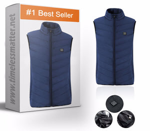 Heated Vest For Men & Women - Rechargable Heated Vest Timeless Matter dark blue 2XL