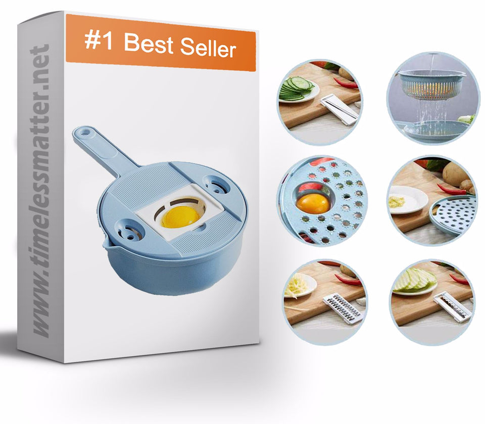 Mandoline Slicer - Best Vegetable Chopper And Grinder - 8 in 1 Vegetable Slicer Mandoline Slicer Timeless Matter