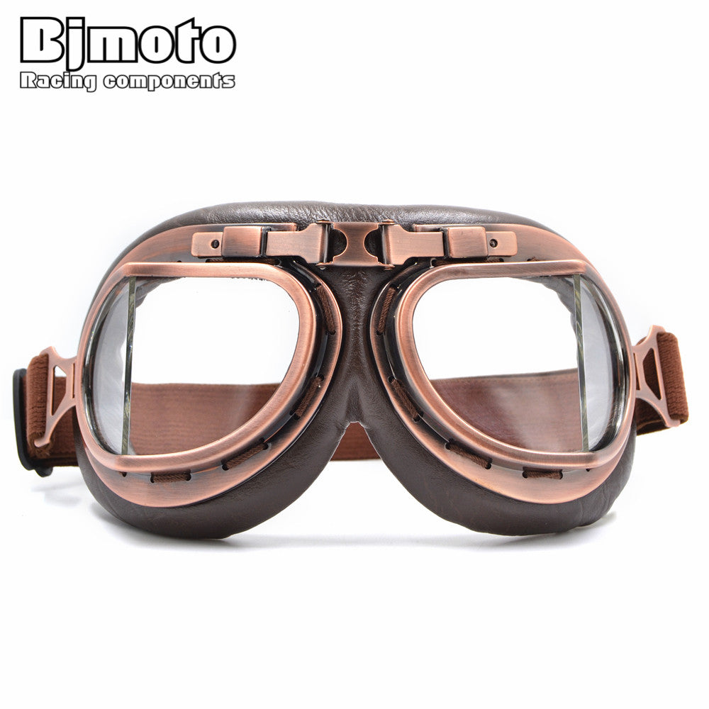 Retro Steampunk Motorcycle Goggles — Four Different Lens Options