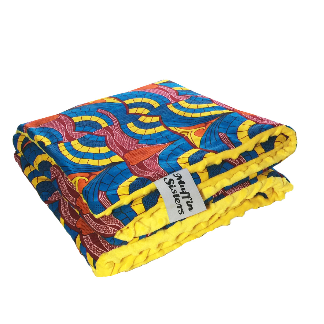 Eshu |  African ankara minky baby blanket & pillow set - Muffin Sisters