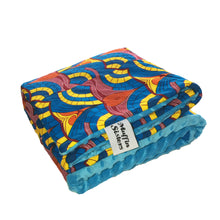 Load image into Gallery viewer, | African ankara minky baby blanket & pillow set - Muffin Sisters