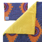Yellow minky dot African baby blanket & pillow set - Muffin Sisters
