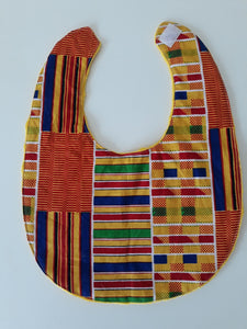 Large African baby bib with velcro fastening - Muffin Sisters