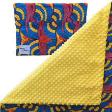 Load image into Gallery viewer, Eshu |  African ankara minky baby blanket & pillow set - Muffin Sisters